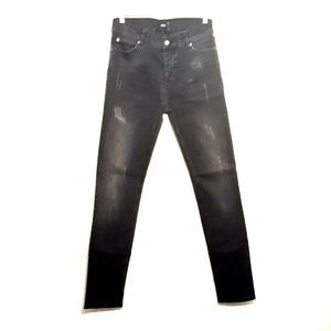 ASOS womens jeans size 30 black button fly skinny